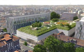 Boeri Ospedale Policlinico di Milano, giardino pensile